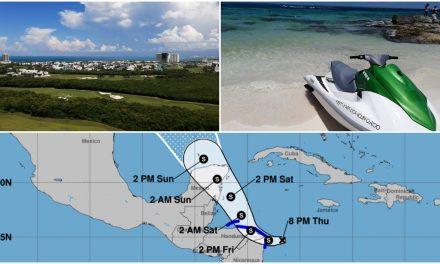 """Tarde del sábado tocaría """"ojo"""" de tormenta tropical en Quintana Roo"""