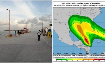 Sistema ciclónico del Caribe se movió al norte y volvió más lento