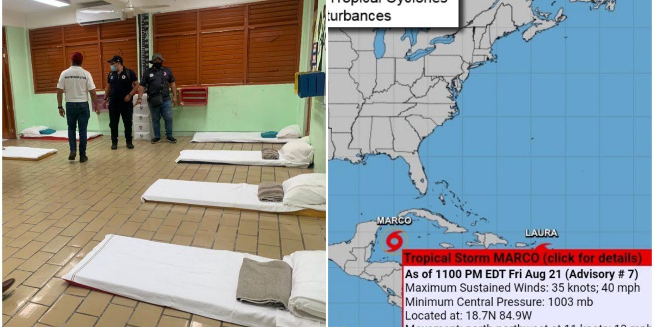 """Evolucionó Tormenta Tropical """"Marco"""" y se acerca al Caribe Mexicano"""