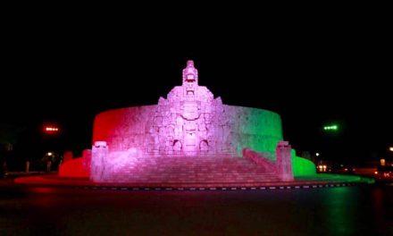 Opaca pandemia decorado urbano de Mérida por fiestas patrias