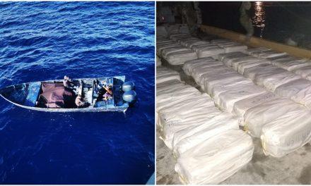 Interceptan casi 3 toneladas de cocaína al este de Mahahual, Quintana Roo