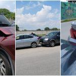Choca dos veces al mismo vehículo: descuido e infortunio