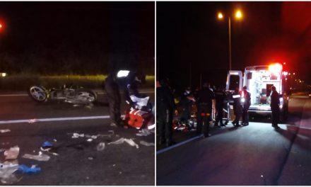 Jóvenes atropelladas en motocicleta en la Mérida-Umán; una grave