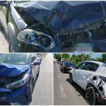 ¿Récord? Trece autos en choques en dos kilómetros del periférico Mérida