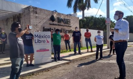 Militantes de México Libre en Yucatán se sumaron a impugnación ante INE