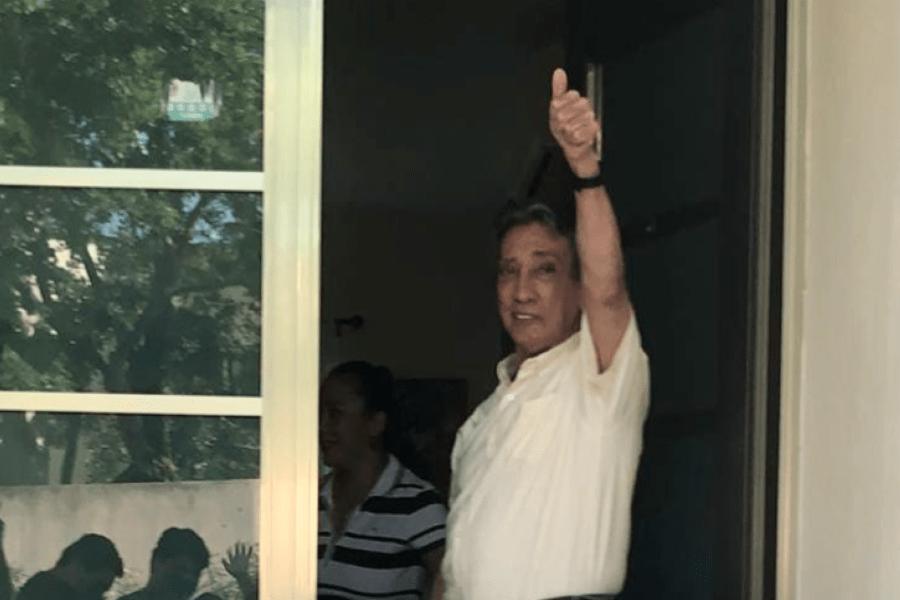Desesperado, Mario Villanueva dice tener Covid-19 y pide traslado a hospital