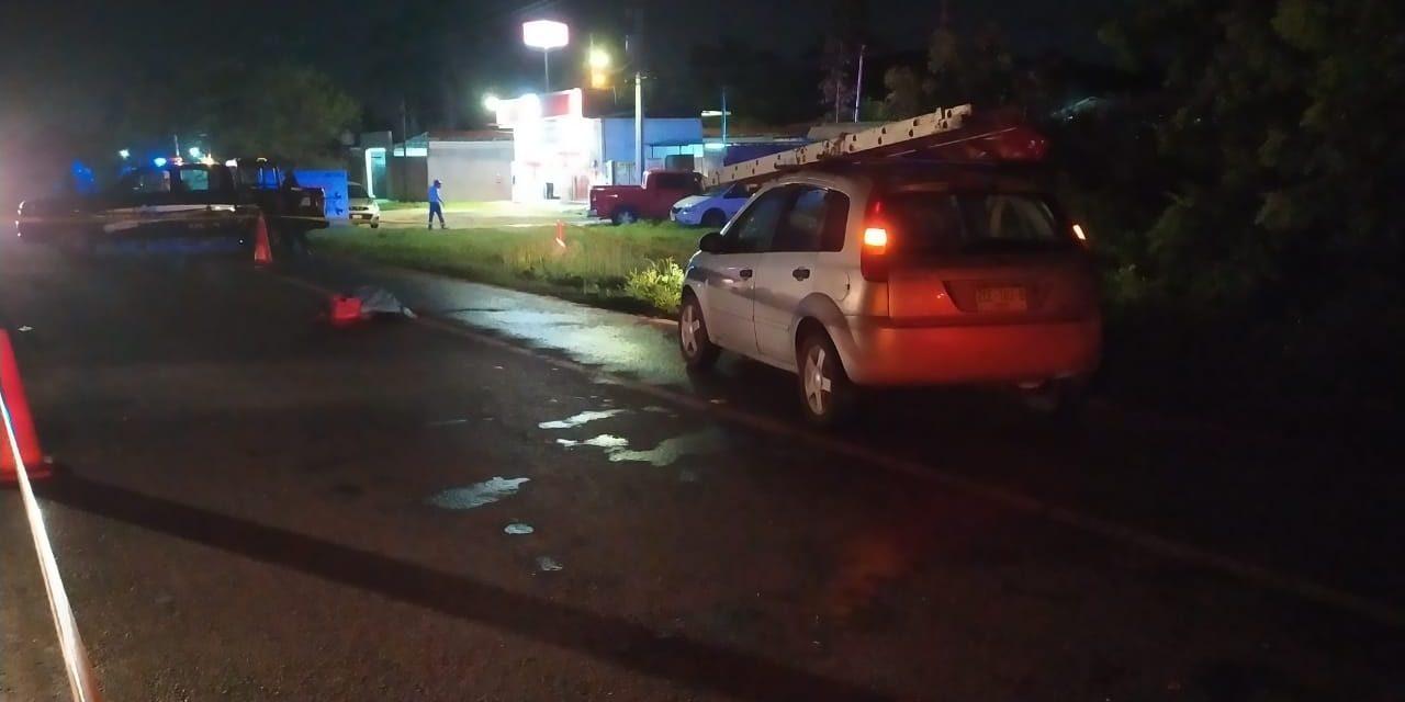 La atropellan y muere en la carretera Mérida-Tixkokob