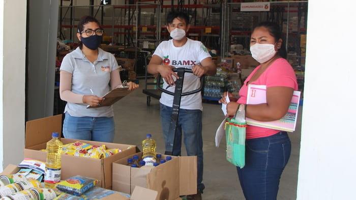 Generosidad en tiempos de pandemia en Yucatán: duplican donativos de alimentos