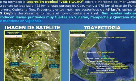 Otro ciclón tropical en ruta cercana hacia la Península de Yucatán
