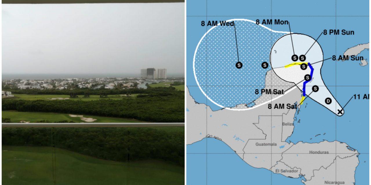 """Ciclón en camino: llegaría a Quintana Roo tormenta tropical """"Gamma"""""""