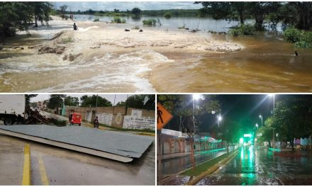 "Descarga gran caudal de lluvias Tormenta Tropical ""Gamma"""