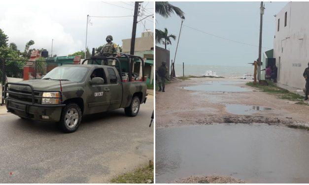 Despliegue de militares en municipios del oriente de Yucatán por ciclón