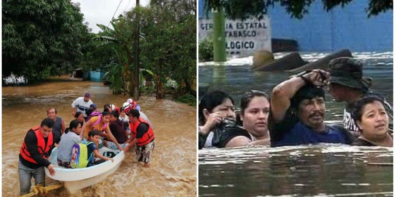 Tabasco otra vez bajo agua: recrudecen inundaciones y suspenden clases
