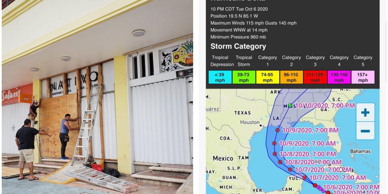 """Huracán """"Delta"""" se debilitó de categoría 4 a 3 cerca de Cozumel"""