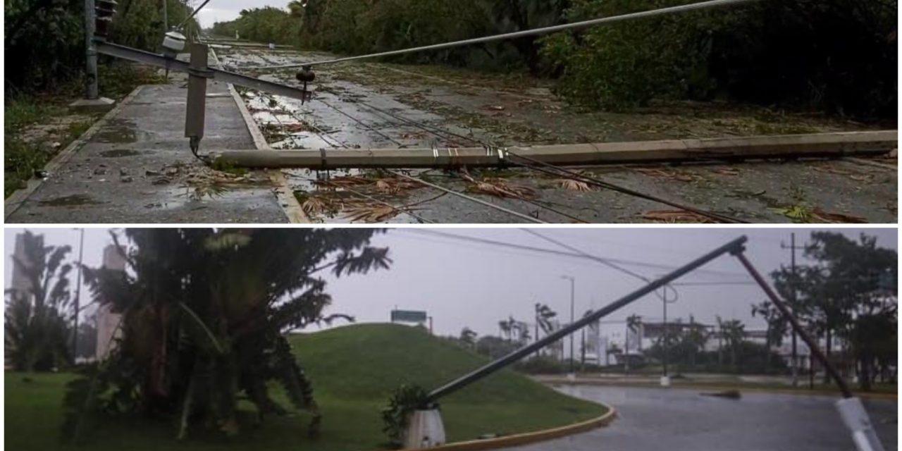 Siguen sin electricidad 11 mil usuarios de Quintana Roo y Yucatán
