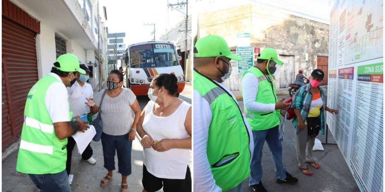 "Crean ""circuitos de acercamiento"" entre paraderos en centro de Mérida"