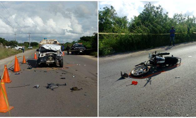 Muere joven motociclista en la carretera Umán-Samahil