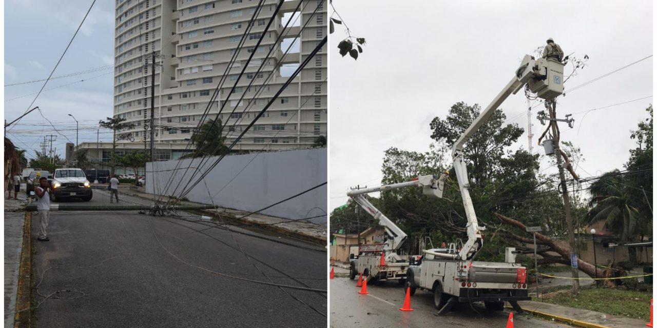 Sin electricidad sectores de ciudades en Quintana Roo y Yucatán
