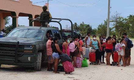 Puertos del oriente de Yucatán, segunda evacuación en 25 días