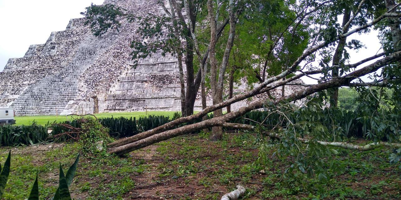 Dos días cerrada zona arqueológica de Chichén Itzá por tormenta tropical