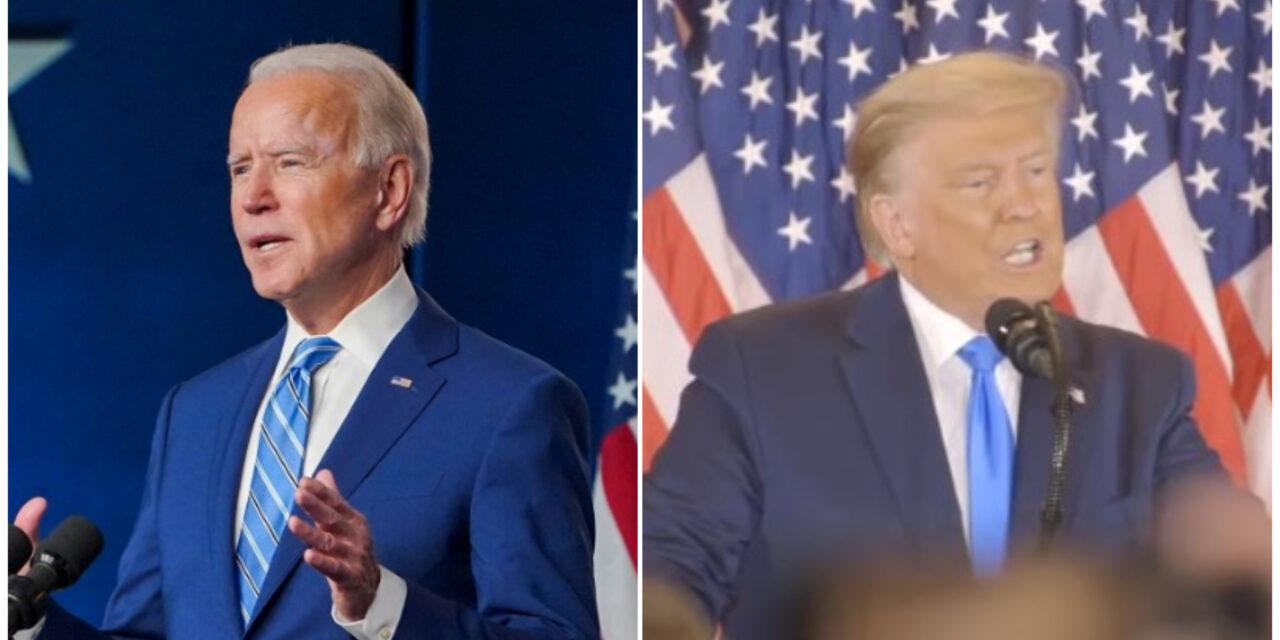 """""""Seré presidente para todos…"""", Joe Biden; """"Yo gané"""", Trump"""