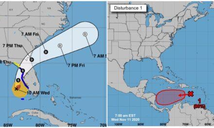"""En alejamiento """"Eta"""" como huracán, potencial ciclón en el Mar Caribe"""
