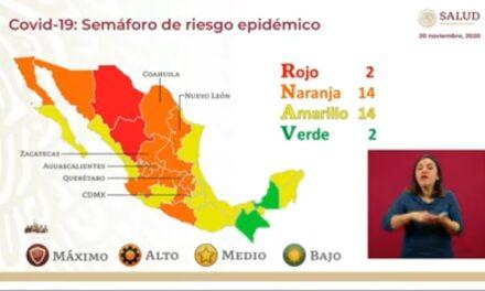 Salud federal coloca a Yucatán en amarillo, pero seguirá en naranja