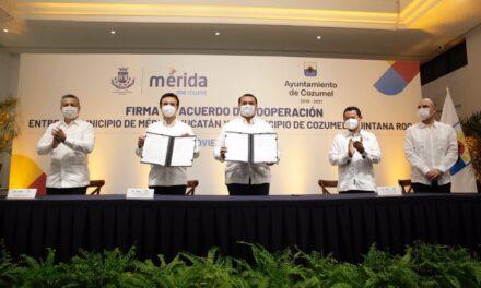 Unen esfuerzos Cozumel y Mérida para la reactivación económica