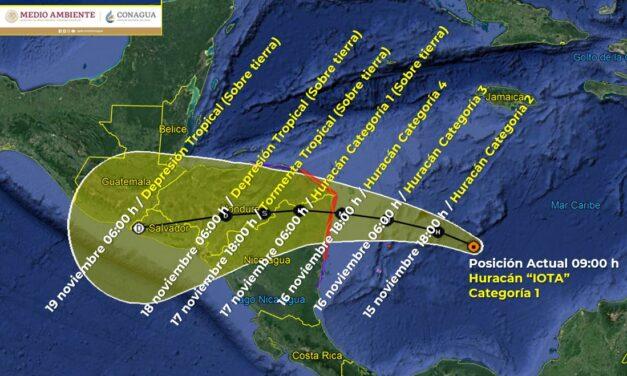 """Poderoso huracán """"Iota"""" alcanzaría categoría 4 al golpear Centroamérica"""