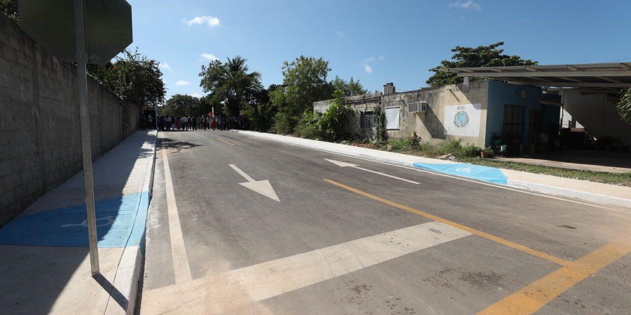 Declaración por Mérida 2050: Repavimentados 35.7 kilómetros de calles