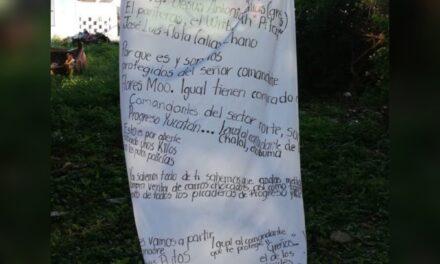 """Con """"narcomanta"""" envían otro mensaje a mandos de la SSP-Yucatán"""