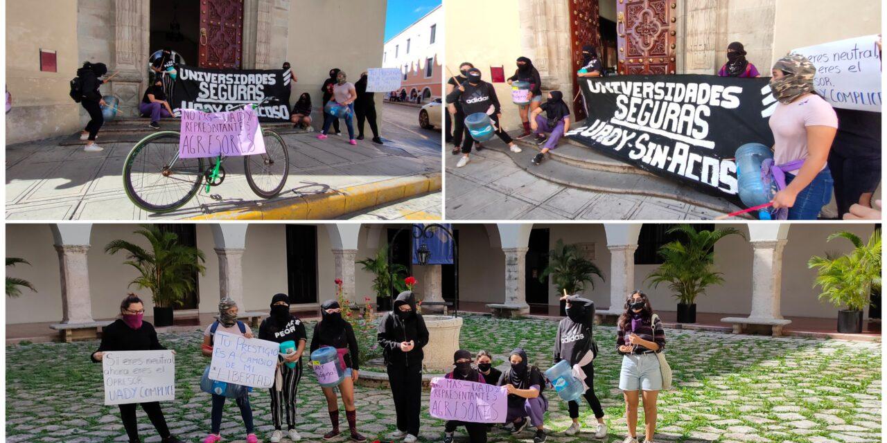 Protestan en UADY contra candidatos a consejeros alumnos con denuncias