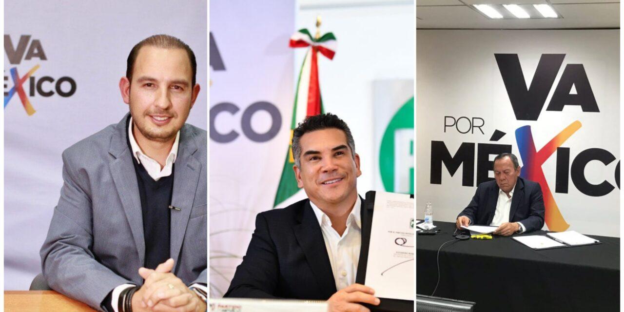Presentan PAN, PRI y PRD coalición 'Va por México'