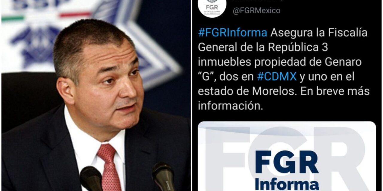 Aseguran propiedades de Genaro García Luna en CdMx y Morelos