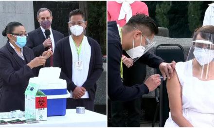 Enfermera, primera vacunada contra Covid-19 en México