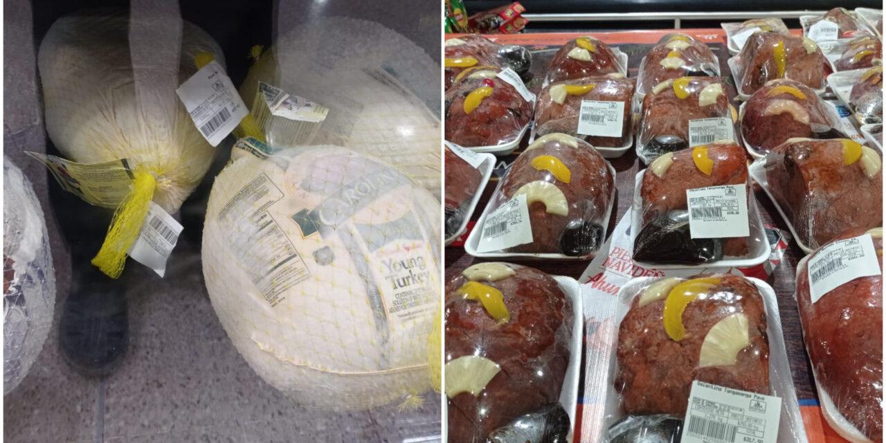 Pavo y productos básicos para la cena de Navidad, con menos ventas