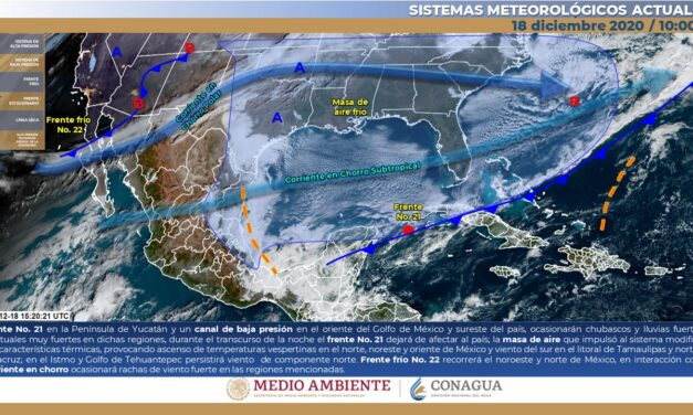 Llegan 2 nortes a Yucatán: pronostican fría Navidad por aire polar ártico