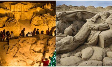 Celebra XV años monumental nacimiento de arena en las Palmas de Gran Canaria