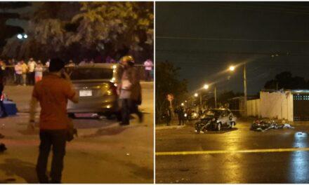 Conduce en sentido contrario y mata a motociclista en Juan Pablo Segundo