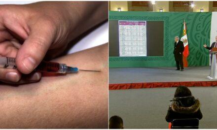 Vacunas de Pfizer para estados faltantes, a partir del 11 de enero