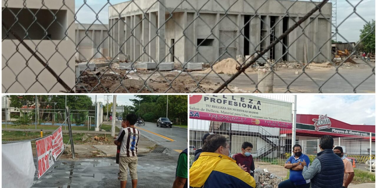 Locatarios de Central de Abastos Mérida defienden predio que dicen suyo