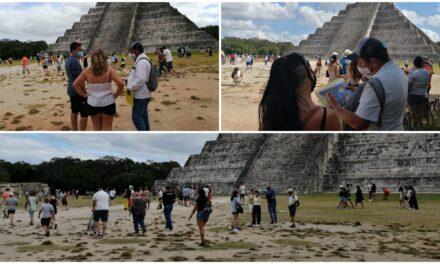 'Europeos y rusos', además de estadounidenses, visitan Chichén Itzá