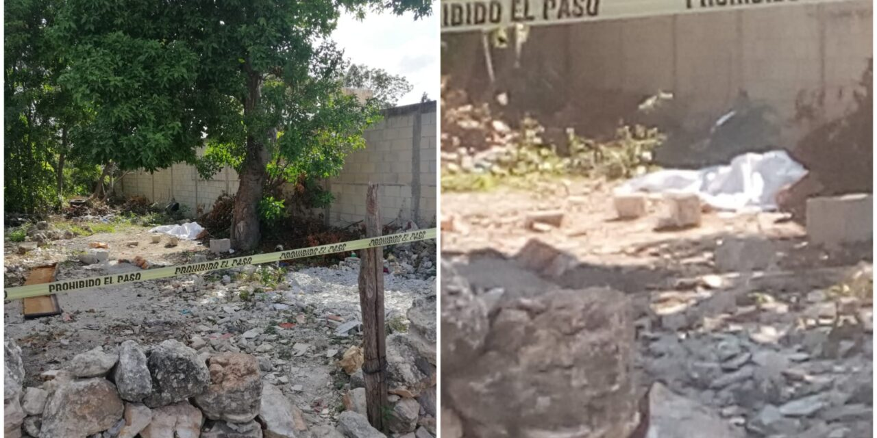 Muerto en Rinconada Chuburná, junto a roca ensangrentada