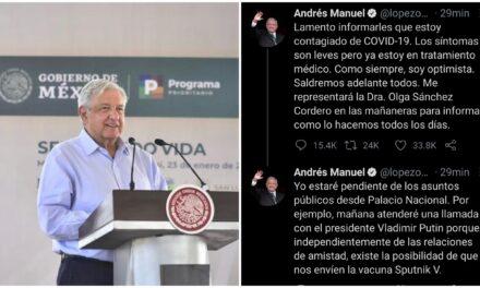 Contagiado de coronavirus el presidente Andrés Manuel López Obrador