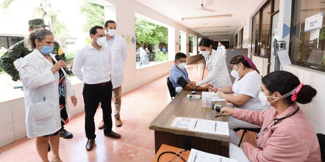 Vacunación a personal de salud en Yucatán, al 100 por ciento