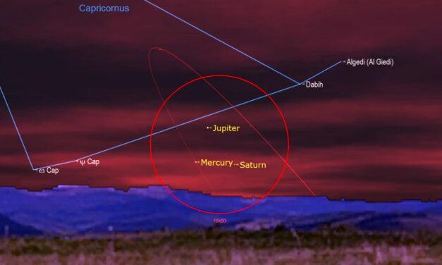 Esta noche, verás desde Yucatán el mejor episodio de triple conjunción de planetas