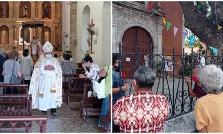 Con restricciones y sin romería, conmemoran en Mérida a la Candelaria