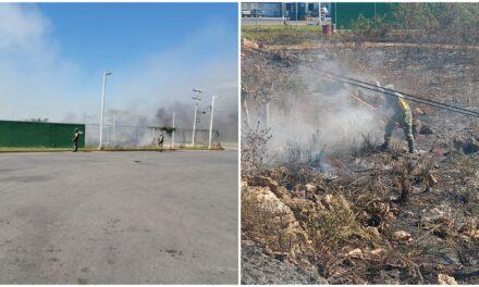 Incendio 'rondó' gasolinera en periférico sur de Mérida