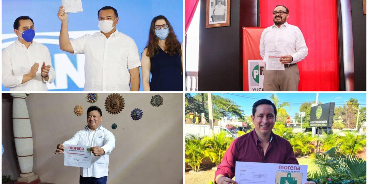 Definidos virtuales precandidatos del PRI y PAN; Morena, dos inscritos