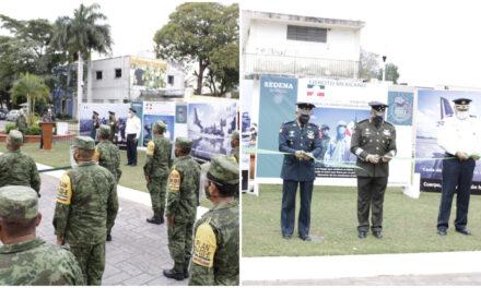 'La Gran Fuerza de México', exposición fotográfica de Sedena en Remate de Montejo